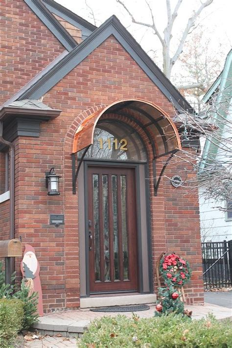 eyebrow copper door awning in royal oaks mi awnings we