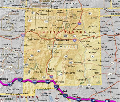 map of new mexico and texas i 10 new mexico map