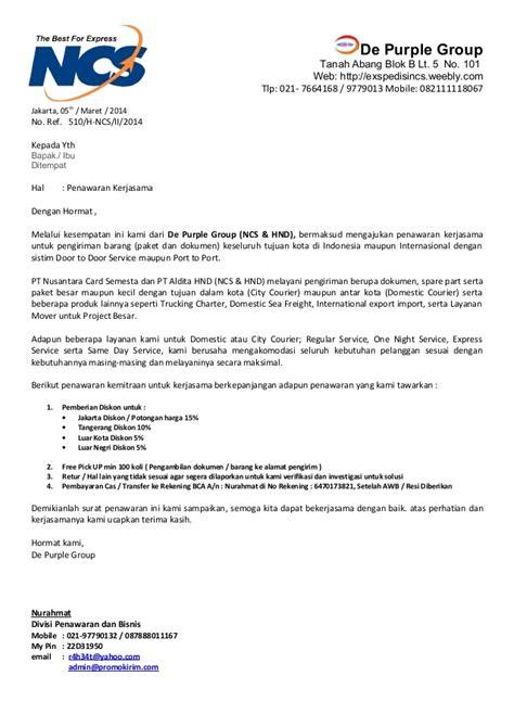 Surat Permintaan Penawaran Biaya Jasa Pengiriman Barang by Surat Penawaran Bindoline