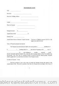 promissory note real estate template 1000 images about printable real estate forms on real estate forms land trust and