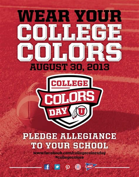 national college colors day 8 best college colors day 2013 images on
