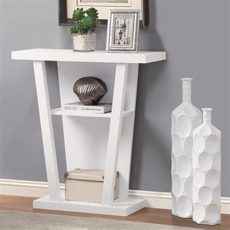 White Hallway Console Table Kimmie Console Table In White Contemporary Accent Tables