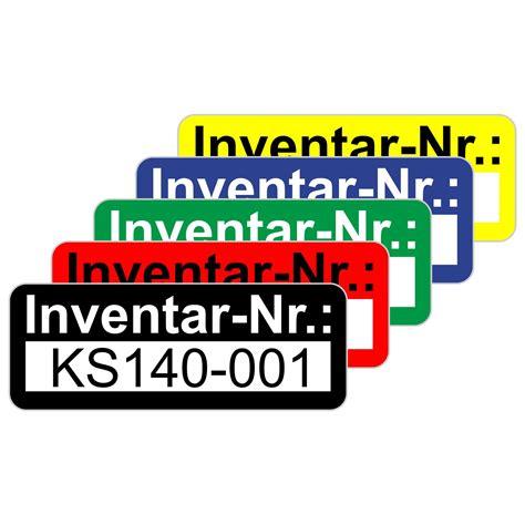 Folien Aufkleber Beschriftbar by Inventaretiketten Inventaraufkleber Selbstklebend 48x20 Mm