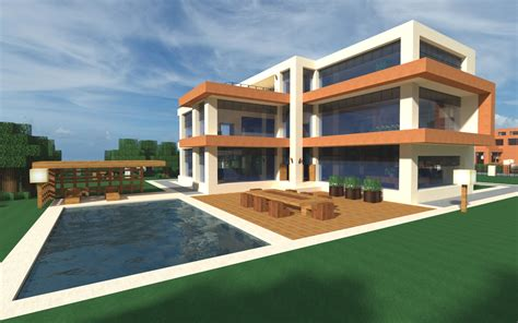 modern home very comfortable minecraft house design image gallery modern minecraft home