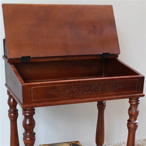 small writing desk small writing desk in dual walnut stain 3836