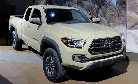New Toyota Tacoma 2016 2016 Toyota Tacoma Bows With New Powertrains In Detroit