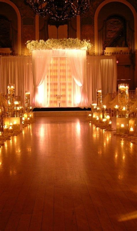 wedding ceremony decorations with candles 2 23 stunningly beautiful decor ideas for the most breathtaking indoor outdoor wedding