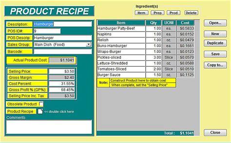Recipe Cost Spreadsheet by Recipe Cost Spreadsheet Free Kidsrevizion