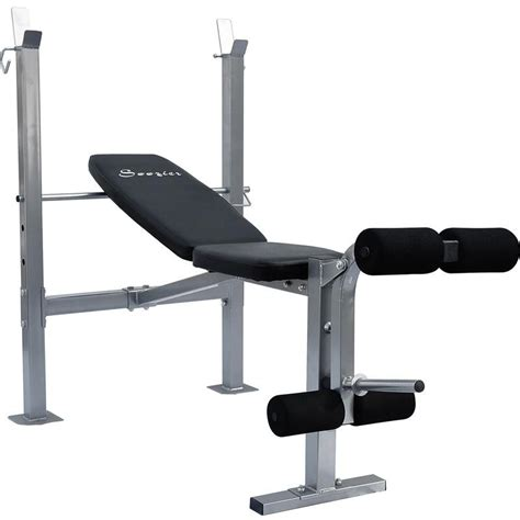 leg exercise bench soozier exercise weight bench w leg extension