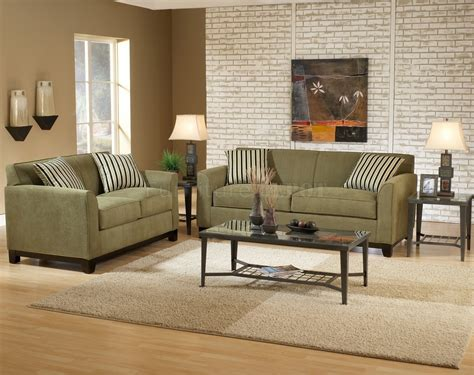 Color Living Room Furniture Wall Color For Green Fabric Casual Modern Living Room Sofa Loveseat Set