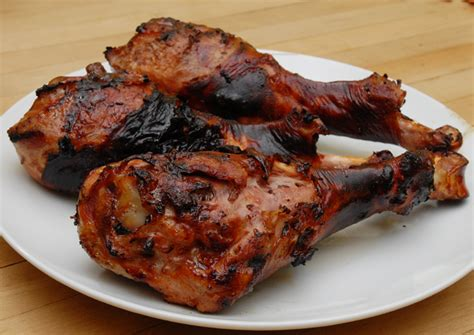 grilled turkey legs with orange honey and chipotle