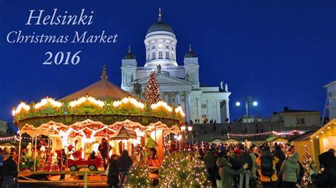 helsinki christmas market  tuomaan markkinat finland youtube