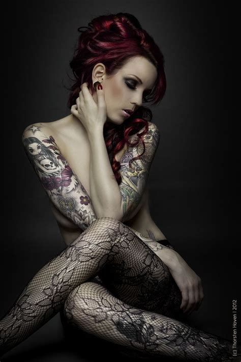 tattoo full body model not usually a fan of large tattoos on a lady but this