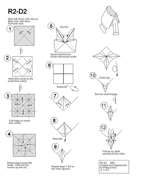 Easy Origami Wars - paper wars origami diagrams posted in how to