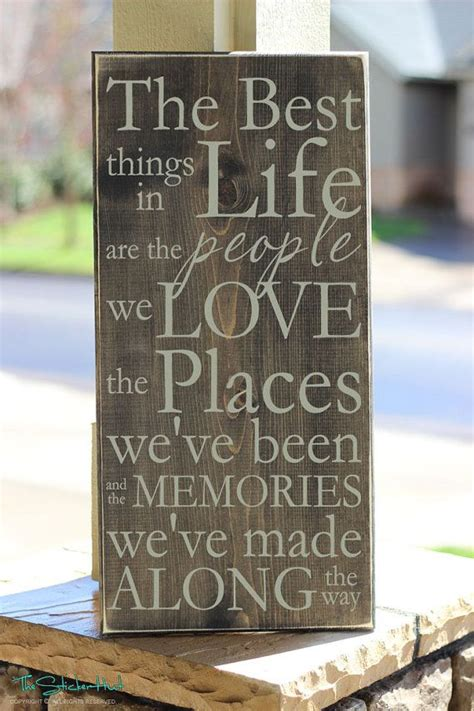 home decor wooden signs sayings the best things in life are the people we love wood sign