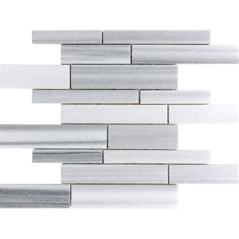 tile white venatino linear mosaic marble wall tile shop anatolia tile annex grigio linear marble mosaic wall
