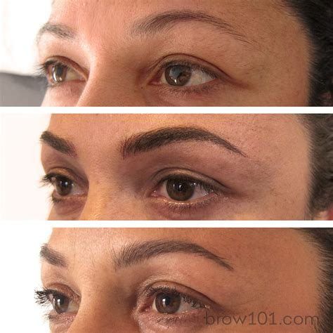 tattooed eyebrows before and after before after and healed micro blade eyebrow these