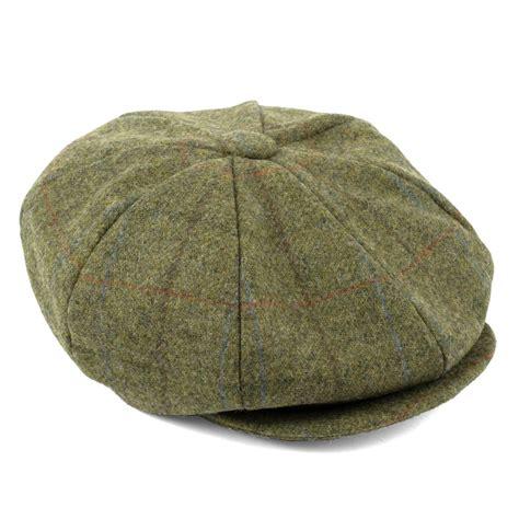 Handmade Cap - 100 wool tweed 8 panel newsboy cap handmade in