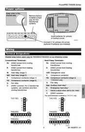 wiring diagram for a thermostat th5110d1006 what wire can be taken to where honeywell