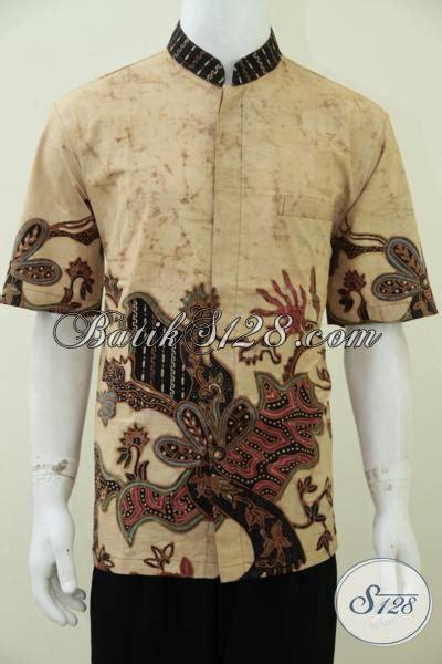 Ormano Baju Koko Muslim Batik Lengan Panjang Lebaran Ha 4 jual kemeja batik muslim model koko busana batik pria