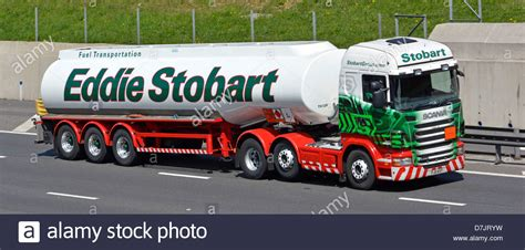petrol tanker articulated hgv scania lorry operated by