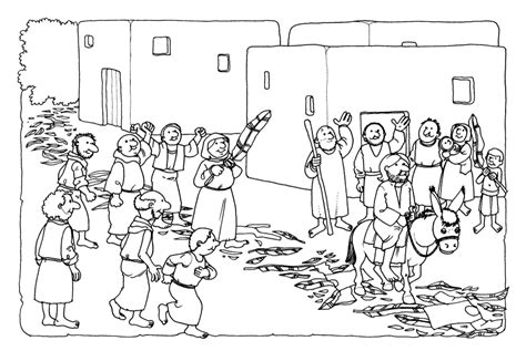 coloring pages palm sunday easter the triumphal entry coloring page coloring home