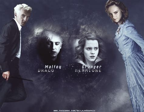 Hermione Granger Draco Malfoy by Draco Malfoy And Hermione Granger By Akilajographic On