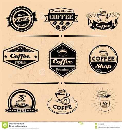 Vector Set Of Coffee Labels Design Elements Stock Vector Image 61442700 Coffee Label Design Template