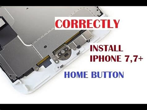 replace iphone 7 7 plus home button without damage