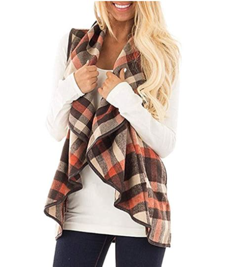 Plaid Open Front Vest open front plaid vest a thrifty recipes crafts
