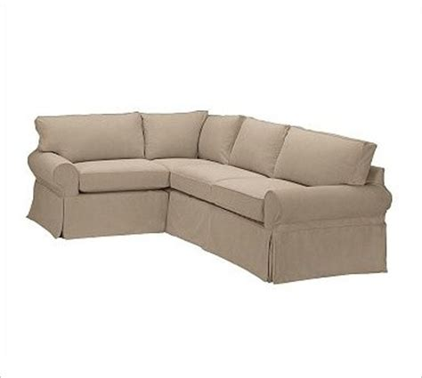 3 piece sectional slipcovers pb basic right 3 piece small sectional slipcover twill