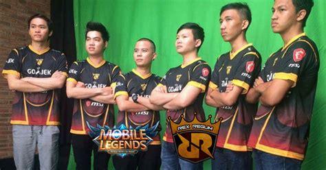 Jersey Rex Regum Qeon 2017 rrq terjun ke esports mobile legends akuisisi roster