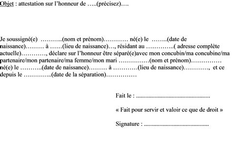 Exemple De Lettre Temoignage Divorce Modele Attestation Juge Document