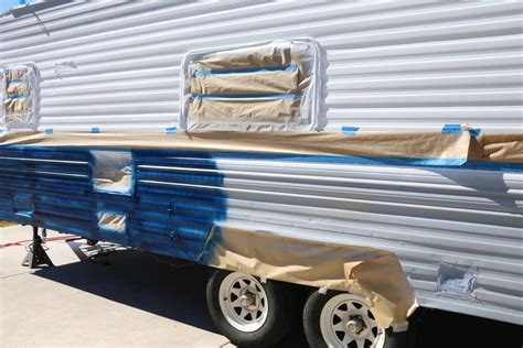 Painting 5th Wheel Trailer by Cer Makeover How To Repaint A Travel Trailer