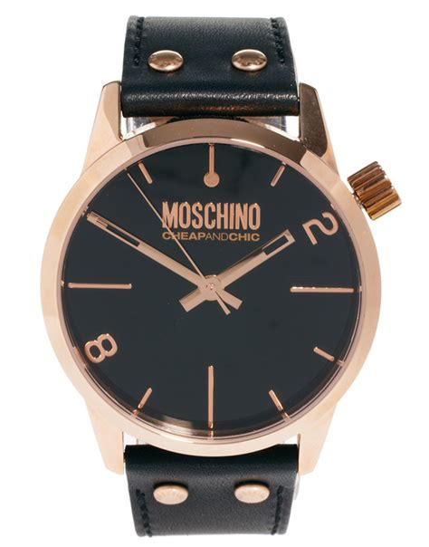 moschino cheap and chic with leather