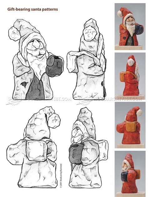 santa carving wood carving patterns woodarchivist
