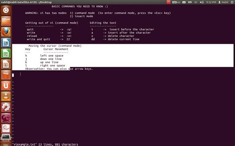 tutorial on linux commands pdf vi text editor tutorial unix linux youtube