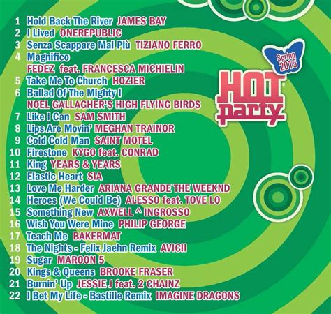 hot party themes 2015 hot party spring 2015 album cover e canzoni m b music blog