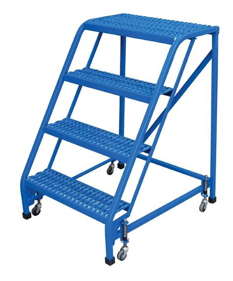 Portable Stairs With Handrail 4 Step Portable Warehouse Ladders With No Handrail And