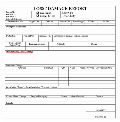 Equipment Damage Report Form Template Unique 26 Of Equipment Damage Assessment Template Form Damage Assessment Form Template