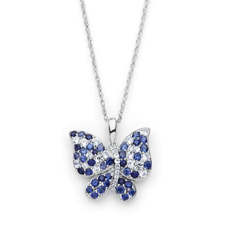 pretty in pave lab created sapphire sterling silver