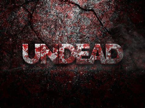 tutorial photoshop zombie effect undead 3d psd text effect