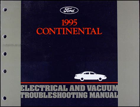book repair manual 1987 lincoln continental security system 1995 lincoln continental electrical and vacuum troubleshooting manual 95 oem ebay