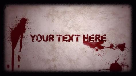 zombie themes for powerpoint horror titles after effects templates motion array