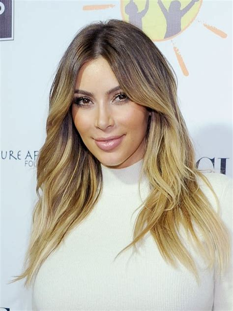 khloe kardashians ombre hair expert tips to get the look kim kardashian s hair at dream for africa get her