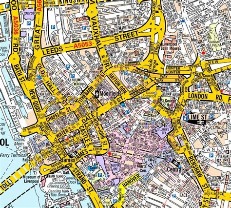 liverpool map liverpool a z wall map