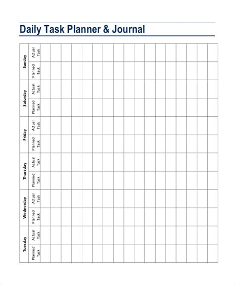 daily planner template 7 free pdf psd documents
