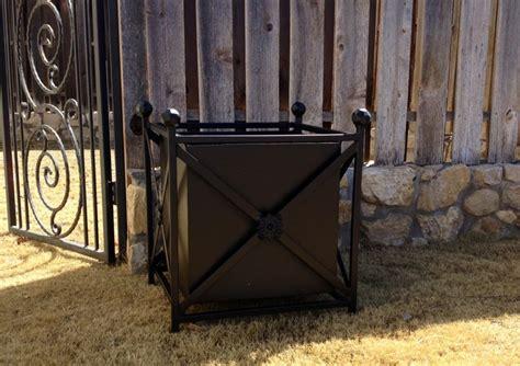 wrought iron planter box landscape design