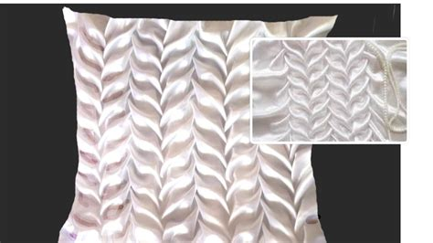 leaf pattern smocking canadian smocking in a fabric for cushion easy steps diy