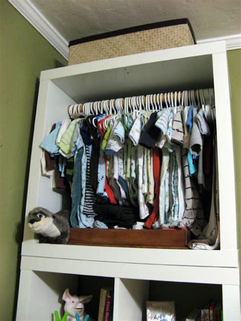 expedit shoe storage expedit baby closet ikea hackers ikea hackers